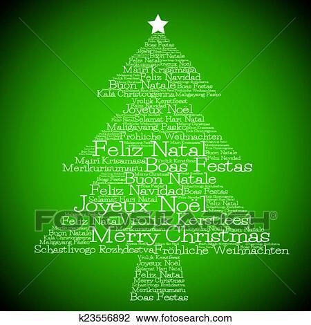 Clipart - weihnachtsbaum, gemacht, von, \