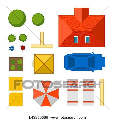 計画 の 私用 家 イラスト クリップアート K43856569 Fotosearch