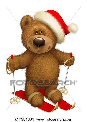 Clipart of Bear skiing k17381301 - Search Clip Art bee72176c100