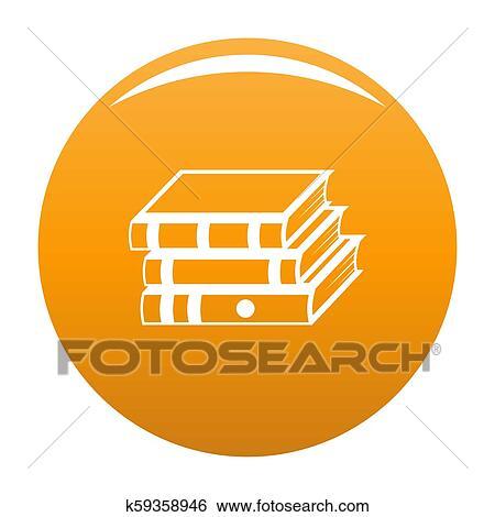 Book school icon orange Stock Illustration