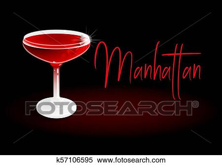Cocktail Manhattan Clipart K57106595 Fotosearch