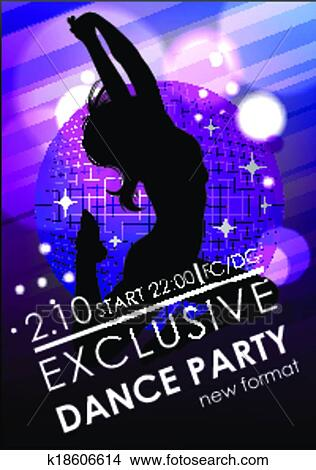 clipart of dance party poster or flyer template k18606614 search