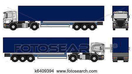 Dessins semi remorque camion k6409394 recherche de - Dessin de camion semi remorque ...
