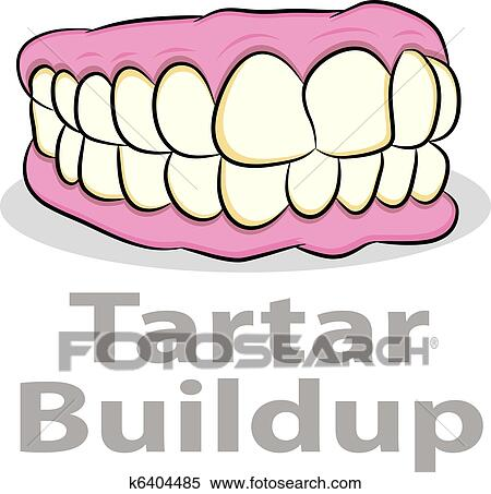 Plaque on teeth clipart border