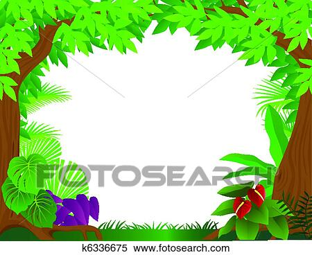 clipart of tropical rainforest background k6336675 search clip art