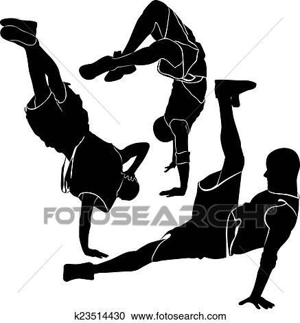 Boy Doing Breakdancing Alone Illustration Royalty Free Cliparts, Vectors,  And Stock Illustration. Image 68517997.