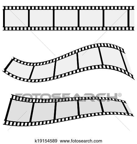 Clip Art of Cinema Film Strip Set k19154589 - Search Clipart ...