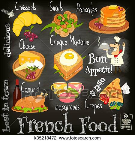 French Food Menu Clipart   k35218472   Fotosearch
