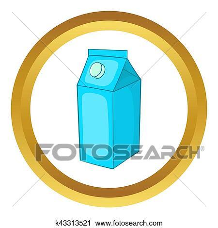 Clipart Of Milk Carton Icon K43313521