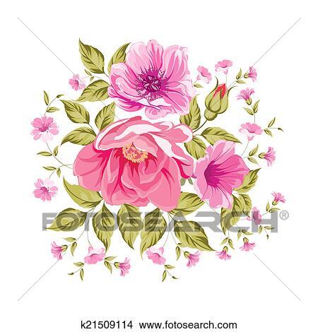 ばら 花の花束 イラスト K21509114 Fotosearch