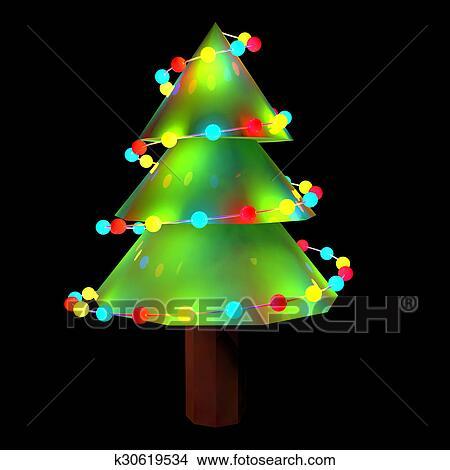 Dibujos 3d adornado luces de rbol de navidad k30619534 Buscar