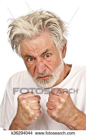 pas cher pour réduction 36ffc d553d Crazy Man Threatening With Fists Picture