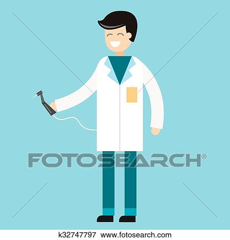 Dentist doctors office and patient with toothache vector Clip Art