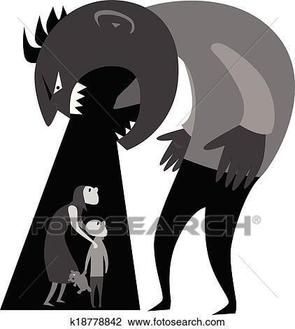 clipart of domestic violence k18778842 search clip art