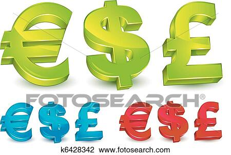 Clipart Of Money Symbols K6428342 Search Clip Art Illustration