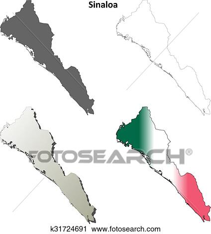 Sinaloa State Map.Clipart Of Sinaloa Blank Outline Map Set K31724691 Search Clip Art