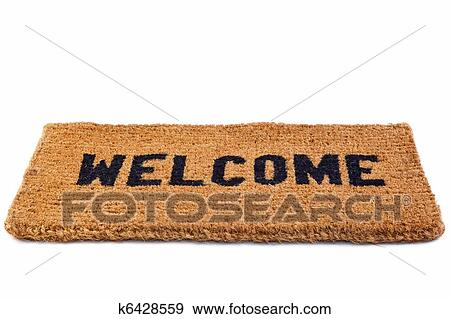 Photo Of A Welcome Door Mat Isolated On White Background