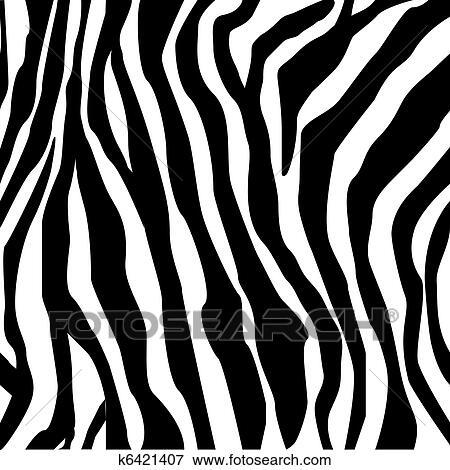 Clip Art Of Zebra Print K6421407