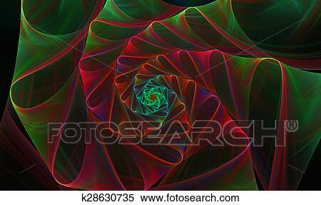 895dd9c9eee Εικόνα, φόντο, με, ένα, ελικοειδής, fractal, ευφυής, λουλούδι, με,  ανακύκλωση