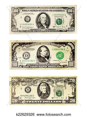 Banknotes Of The American Dollars Face