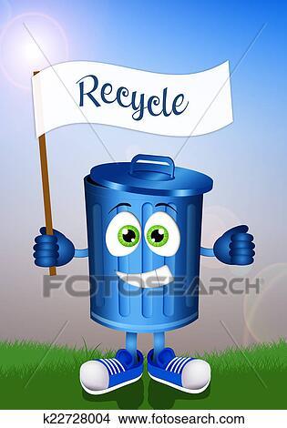 Desenhos Engracado Caixa Lixo Para Reciclagem K22728004 Busca