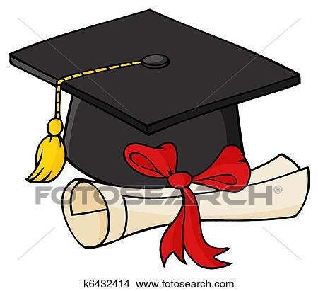 Clipart Laureato Nero Berretto Con Diploma K6432414 Cerca