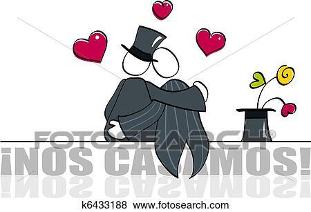 Clip Art Lustig Schwule Wedding Karte K6433188 Suche Clipart