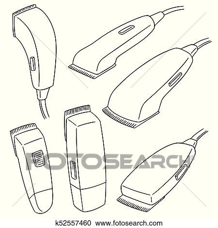 Swell Vector Set Of Hair Cutting Machine Clipart K52557460 Fotosearch Wiring Digital Resources Jebrpkbiperorg