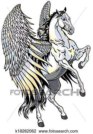 clipart of white pegasus k18262062 search clip art illustration rh fotosearch com pegasus clipart black and white pegasus clipart royalty free cute