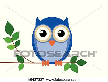 Clip Art Of Wise Old Owl K6437337