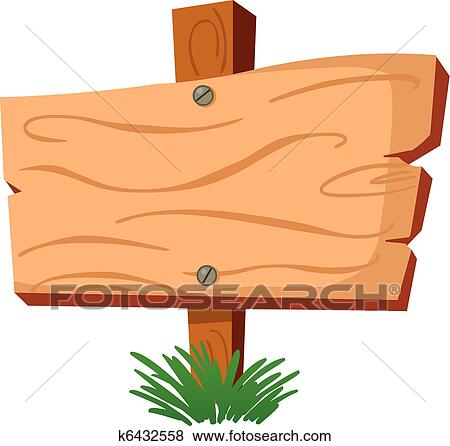 clip art of wood sign k6432558 search clipart illustration rh fotosearch com wood sign clipart free wood sign clipart