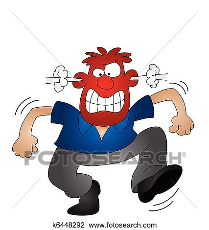clipart of angry man k6448292 search clip art illustration murals rh fotosearch com angry man yelling clipart very angry man clipart