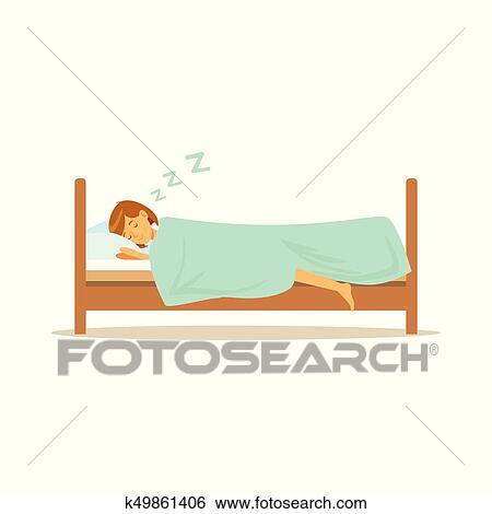 Astonishing Beautiful Young Woman Character Sleeping In Her Bed People Resting Vector Illustration Clip Art Unemploymentrelief Wooden Chair Designs For Living Room Unemploymentrelieforg