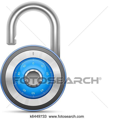 clipart of combination lock collection k6449733 search clip art rh fotosearch com Cute Combination Locks Combination Locks for Lockers