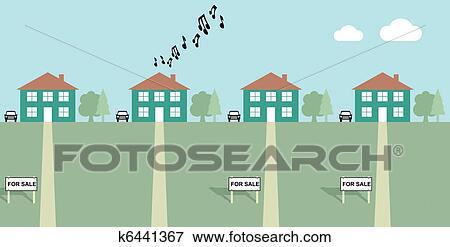 Clip Art Of Neighbours K6441367