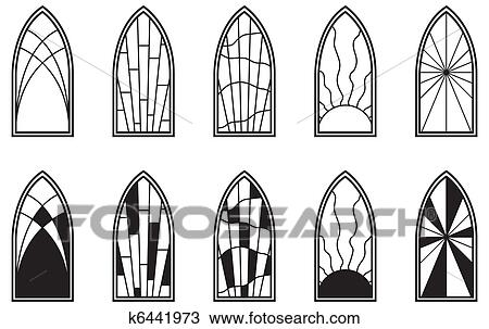 Drawing Of Stained Glass Windows K6441973