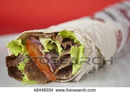 Turkish Durum Kebab Picture K6446034 Fotosearch