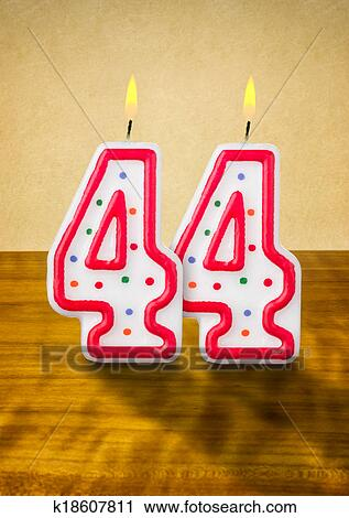 Burning Birthday Candles Number 44