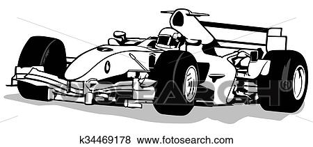 clip art of formula one k34469178 search clipart illustration