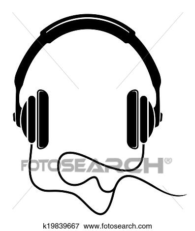 Clip Art - musik, kopfhörer, symbol k19839667 - Suche Clipart ...