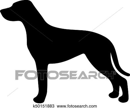 clipart of black and white silhouette of a dog pointer or pinscher rh fotosearch com rottweiler clipart black and white Black and White Anime Vampire