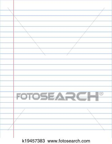clipart of blank notebook paper sheet with lines k19457383 search
