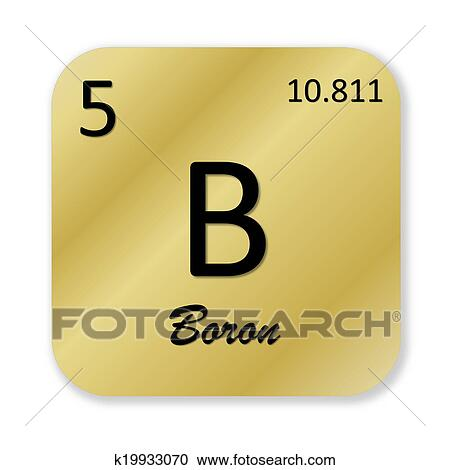 Stock Illustrations Of Boron Element K19933070 Search Clipart