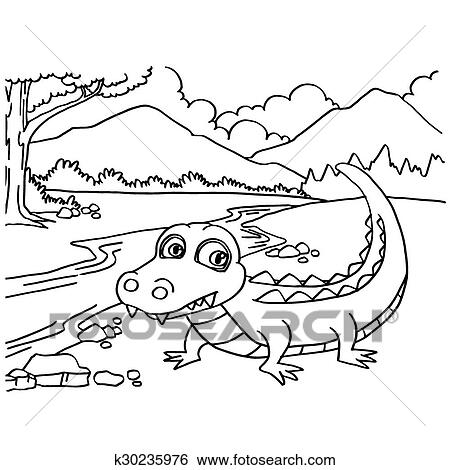 Free Printable Crocodile Coloring Pages For Kids | 470x450