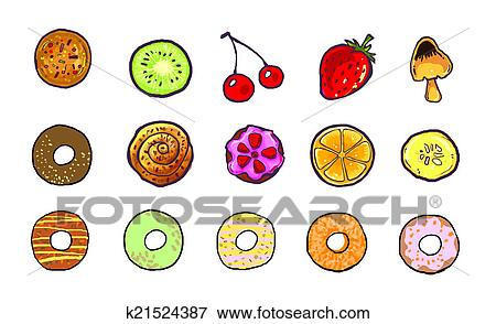 Stock Illustration Of Sweet Food Icon Illustrationcute And Yummy