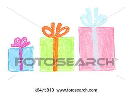 Dibujo Caja Regalos K6475813 Buscar Clip Art Ilustraciones De