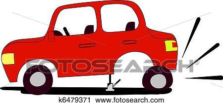 Flat Tire Clipart K6479371 Fotosearch