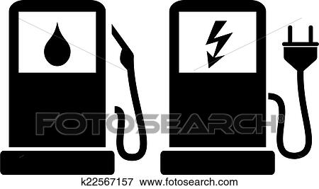 Clip Art Of Gas Station Icon K22567157 Search Clipart