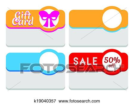 Clip Art of Template for labels, tags, stickers or cards k19040357 ...