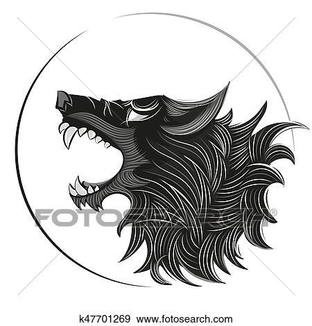 wolf head logo clip art k47701269 fotosearch https www fotosearch com csp647 k47701269